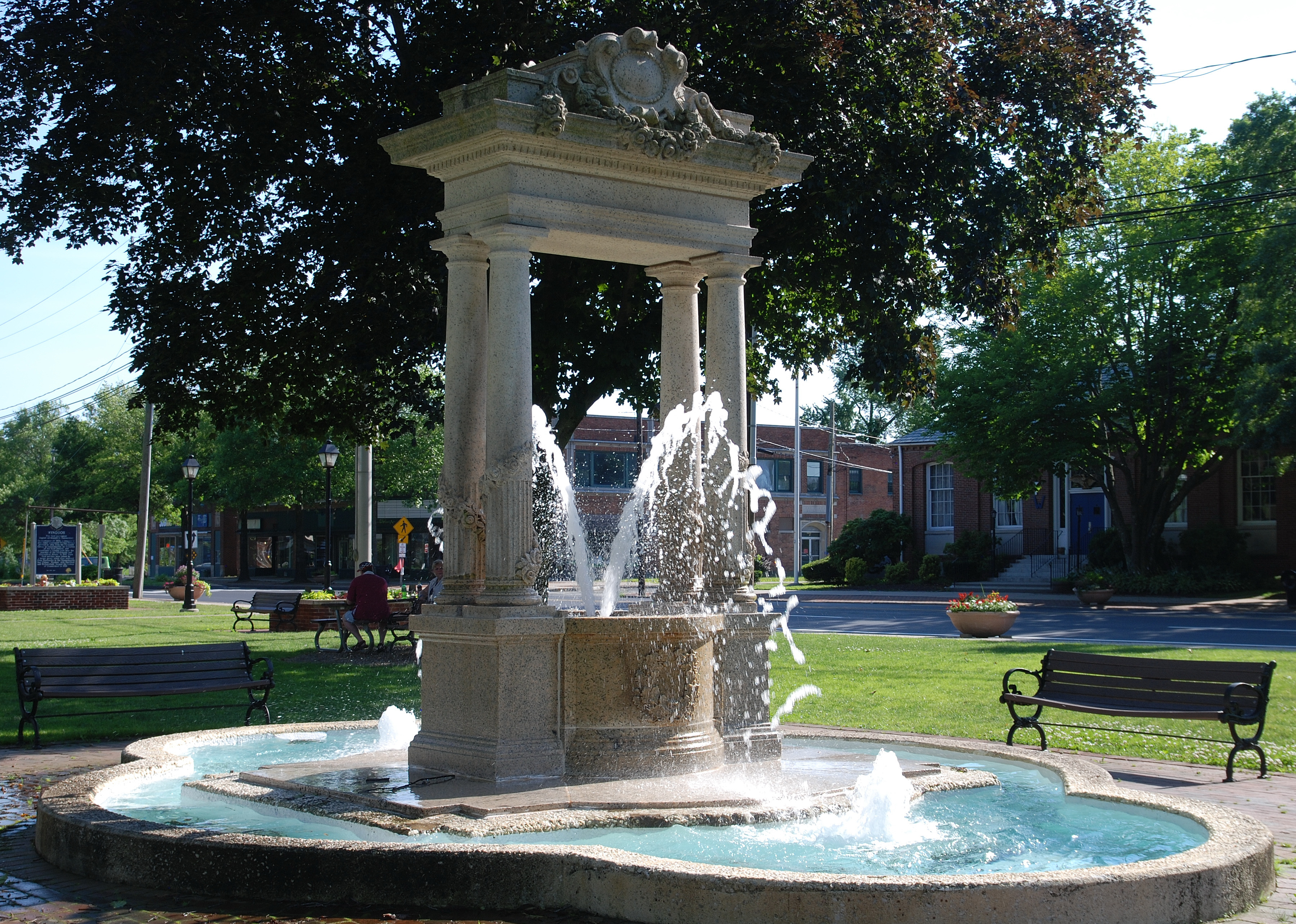 Tiered White Memorial Fountain On State Route 10 Was Dedicated In 1892 In  Memory Of Dr. Roderick White, Town Physician For Almost Half A Century.