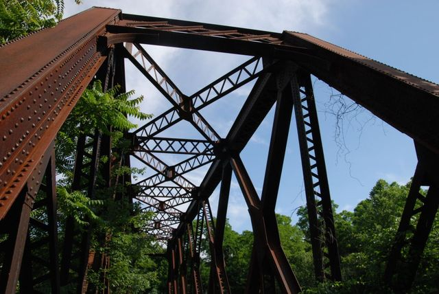 Old Rail Bridge Now Carrying the Farmington River Bike Trail